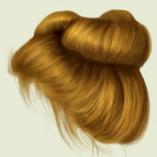 Photoshop tutorial - how to draw a human hair - Photoshop ...
